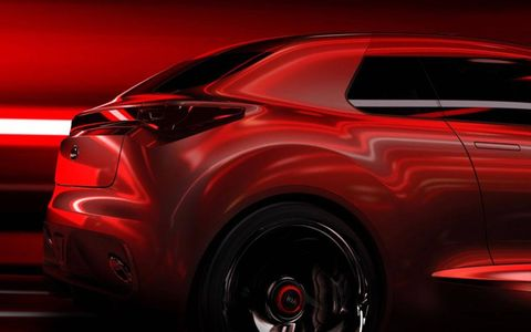 A view of the rear of the Kia concept for Geneva.