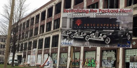 The Packard Plant had become the symbol of Detroit's fall from grace. Now with a lot of money flowing into the project, the iconic factory is coming back to life.