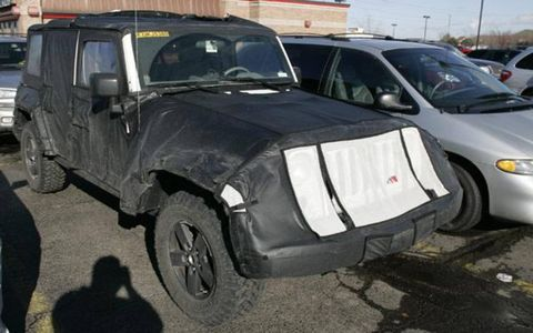 Our spies caught this 4-door Jeep Wrangler in Southern Michigan well in advance of its New York debut in April. Stay tuned to AutoWeek.com for more news on the latest Wrangler and other future sheetmetal.