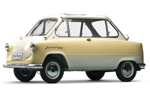 The 1958 Zündapp Janus, the perfect family car.
