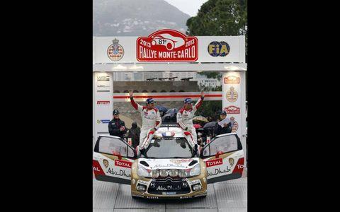 2013 World Rally ChampionshipMonte Carlo RallySebastien Loeb, Daniel Elena, Citroen, podium