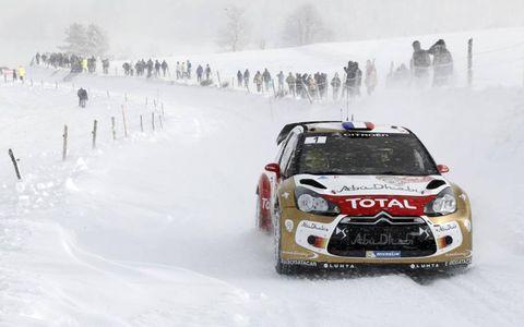 2013 World Rally ChampionshipMonte Carlo RallySebastien Loen, Citroen, action