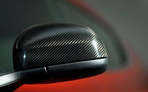 The mirrors get carbon caps as part of an option package.