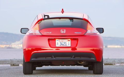 Fuel economy of the Honda CR-Z is 35 mpg in the city and 39 mpg on the highway.