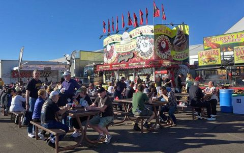 The Barrett-Jackson event is about more than cars. Just look at the popularity of this food stand.