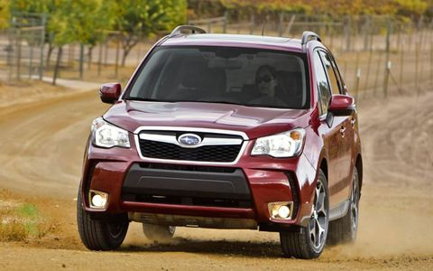Subaru offers the 2014 Forester with either a normally aspirated 2.5-liter boxer four or a turbocharged 2.0-liter boxer four.
