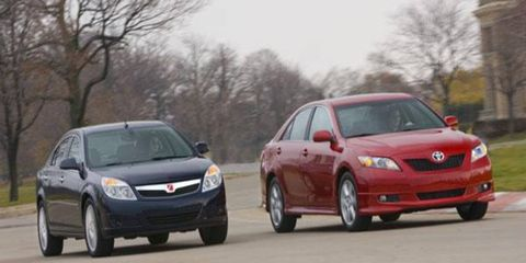 Double Take:  Saturn Aura vs. Toyota Camry