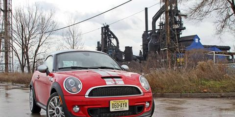 """""""I had an absolute riot of a weekend in this 2012 Mini Cooper S coupe, blitzing and blasting across town for various tasks and functions."""" - News Editor Greg Migliore"""