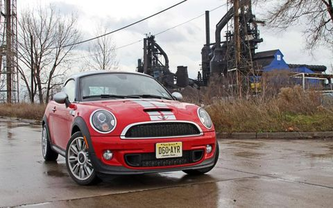 """I had an absolute riot of a weekend in this 2012 Mini Cooper S coupe, blitzing and blasting across town for various tasks and functions."" - News Editor Greg Migliore"