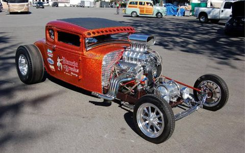 A hot rod at the Grand National Roadster Show