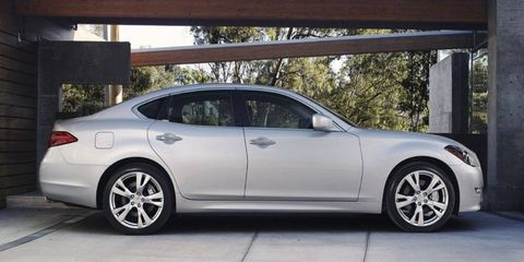 The 2011 Infiniti M will be offered in M37 and M56 model designations when it goes on sale at Infiniti retailers nationwide in spring 2010
