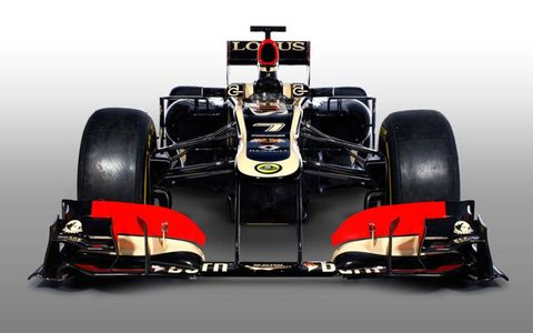 The Lotus E21 that was launched by the Lotus F1 team on Monday.