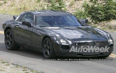 Mercedes-Benz AMG supercar spied