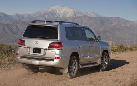 The LX570 is a big vehicle, we're talking 6,000 pounds big.