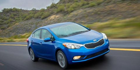 The 2014 Kia Forte will hit dealerships near the end of the first quarter of 2013.