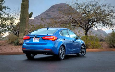 Power ranges from 148 to 173 hp in the 2014 Kia Forte.