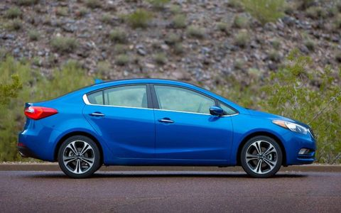 Buyers of the 2014 Kia Forte will get a choice of two four-cylinder engines.