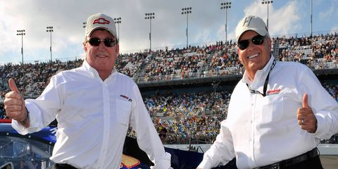 Richard Childress, left, and Rick Hendrick, right, were elected to the NASCAR Hall of Fame on Wednesday in Charlotte, North Carolina.
