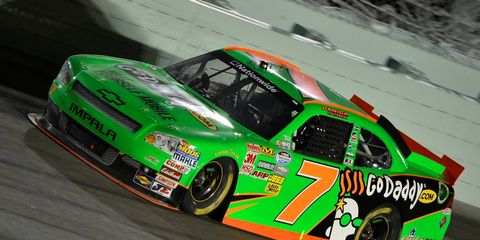 Danica Patrick first raced in NASCAR in the No. 7 with sponsorship from GoDaddy.
