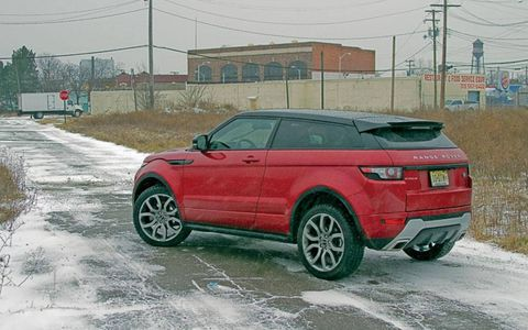 """""""What sticks out the most in my mind are the Evoque's reflexes. It doesn't handle like a 3,900-pound vehicle. With snappy steering responsive and a well-composed body in corners with little lean, it's a fun little runner."""" - Road Test Editor Jonathan Wong"""