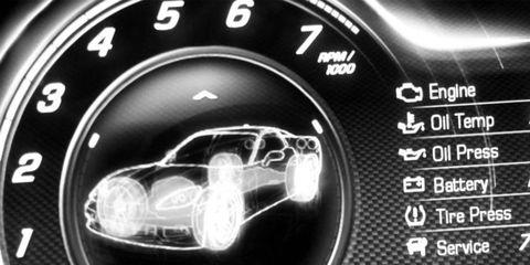 Font, Automotive lighting, Measuring instrument, Circle, Gauge, Display device, Luxury vehicle, Multimedia, Symbol,