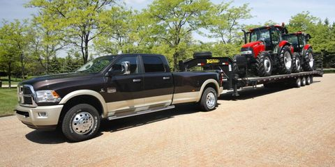 The 2013 Ram 3500 is rated to tow a 30,000-pound trailer.