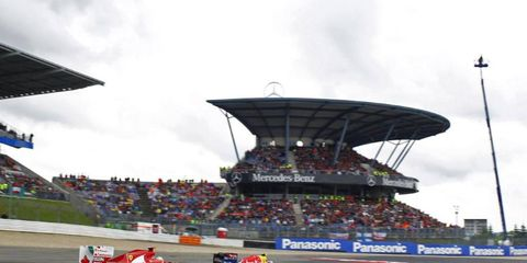 Formula One boss Bernie Ecclestone says he expects Nürburgring to be ready for the 2013 German Grand Prix.
