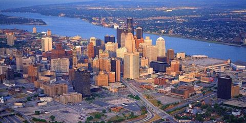 A view of the city of Detroit
