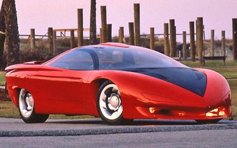 The Pontiac Banshee and other concepts shown here first appeared at the 1988 GM Teamwork and Technology conference in New York City.