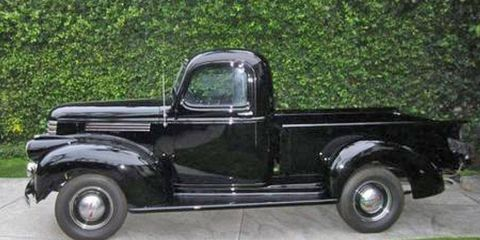 This 1941 Chevrolet pickup, once owned by actor Steve McQueen, is currently listed for sale on eBay.