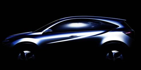 Honda teased its small SUV concept for the Detroit auto show in this sketch.