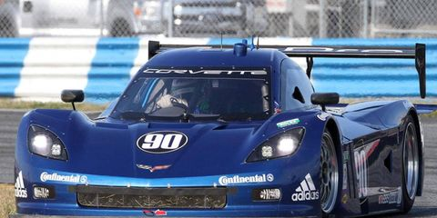 """Grand-Am Series officials pulled the engine of the No. 90 Spirit of Daytona Corvette immediately after the """"Roar Before the 24"""" test at Daytona on Jan. 6."""