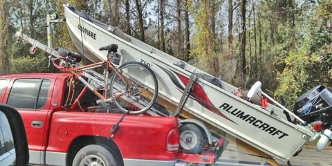 If the boat wasn't already on a trailer, we could almost understand their reasoning.