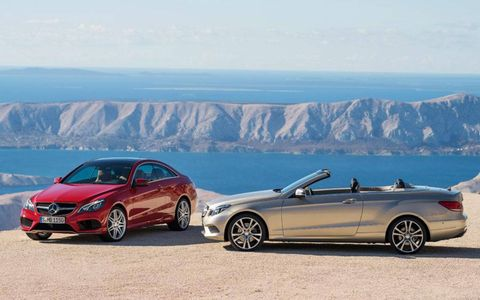 The facelifted 2014 Mercedes-Benz E-class coupe and cabriolet have been unveiled ahead of their Detroit auto show debut.