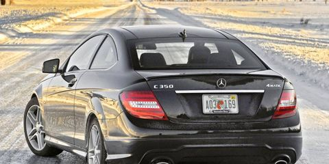 The 2012 Mercedes-Benz C350 4Matic coupe is an agile, luxurious two-door that offers the added security of all-wheel drive.