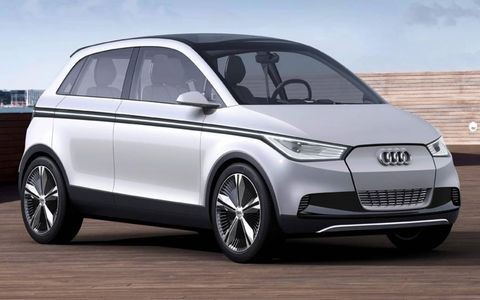 Front view of Audi A2 concept.