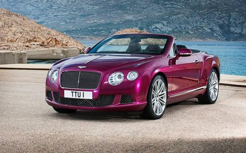 The Bentley Continental GT Speed convertible is nearly identical -- if a bit slower -- than the hardtop version of the car. With a top speed of 202 mph, we doubt you'll notice the difference.