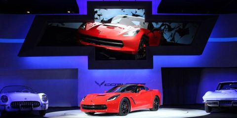 The all-new Corvette Stingray shares only two parts with the previous generation Corvette.