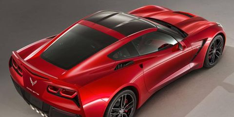 Here's a rear view of the Corvette Stingray coupe. A starting point to photo chop a convertible.