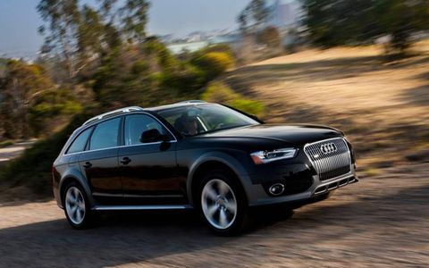 The 2013 Audi Allroad is powered by a turbocharged 2.0-liter four-cylinder engine making 211 hp and 258 lb-ft of torque.