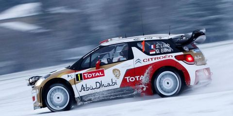 Nine-time series champion Sebastien Loeb is in the early lead in the World Rally Championship event at Monte Carlo.