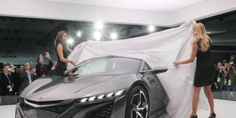 The Acura NSX concept was just one of 59 cars revealed this week a the Detroit auto show.