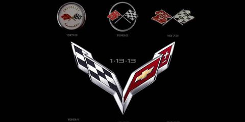 A history of the Chevrolet Corvette's crossed flags emblem.