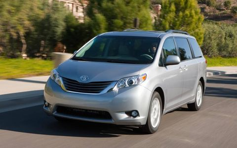 The Toyota Sienna XLE is powered by a 3.5-liter V6 making 266 hp and 245 lb-ft of torque.