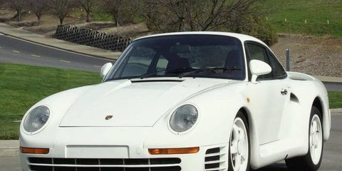 One of 29 built, one of four left, this Porsche 959 prototype is up for bid at Barrett-Jackson next week.