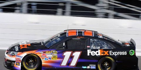 Denny Hamlin said that driving the new car was like being in a video game -- at least when there was no traffic around.
