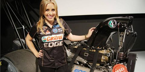 Rookie Brittany Force will drive a Top Fuel dragster powered by a Ford Boss 500 Nitro engine for her father's legendary race team.