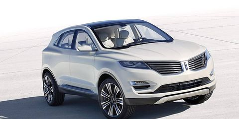 The Lincoln MKC debuts at the Detroit auto show.