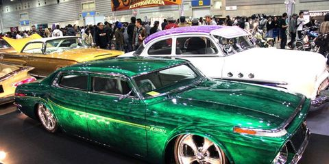"""No matter where they're from, hot-rodders and customizers do what they can with what they have. Hence, """"Kuzilla,"""" a chopped fourth-gen Toyota Crown."""