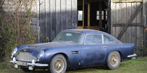 This barn find 1965 Aston Martin DB5 will be auctioned by Bonhams in May.
